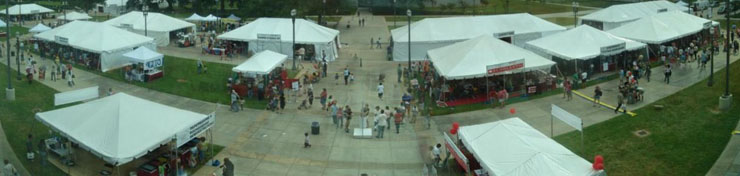 Panoramic view of the 2009 Louisiana Book Festival